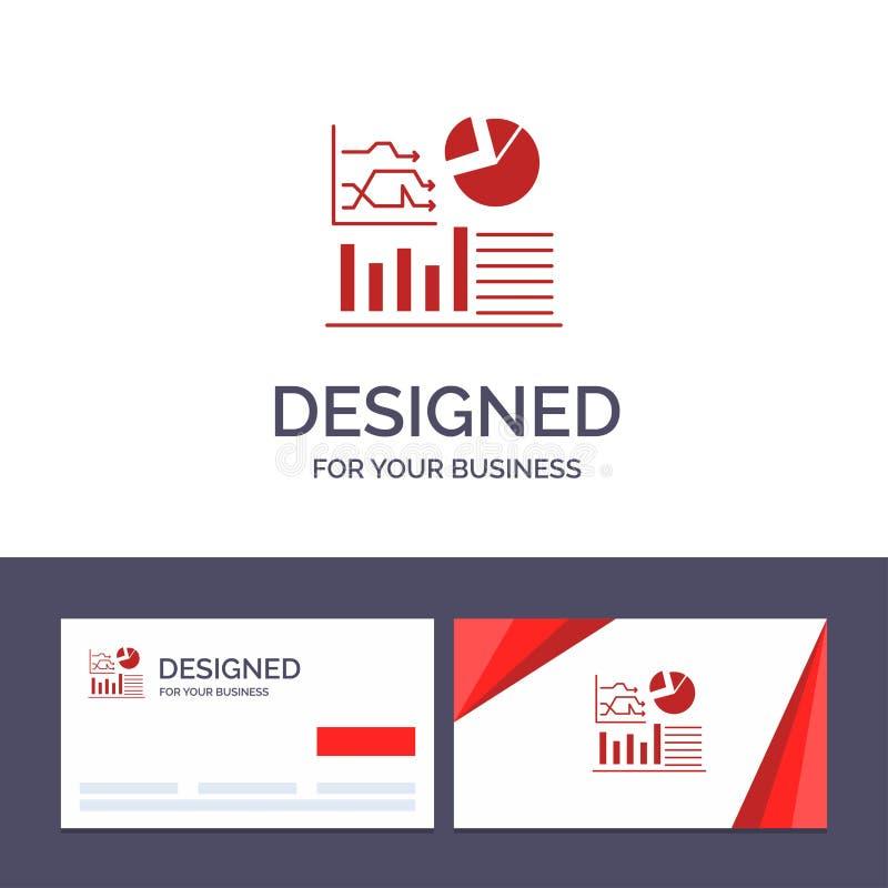 Kreatywnie wizytówki i logo szablonu wykres, sukces, Flowchart, Biznesowa Wektorowa ilustracja ilustracja wektor