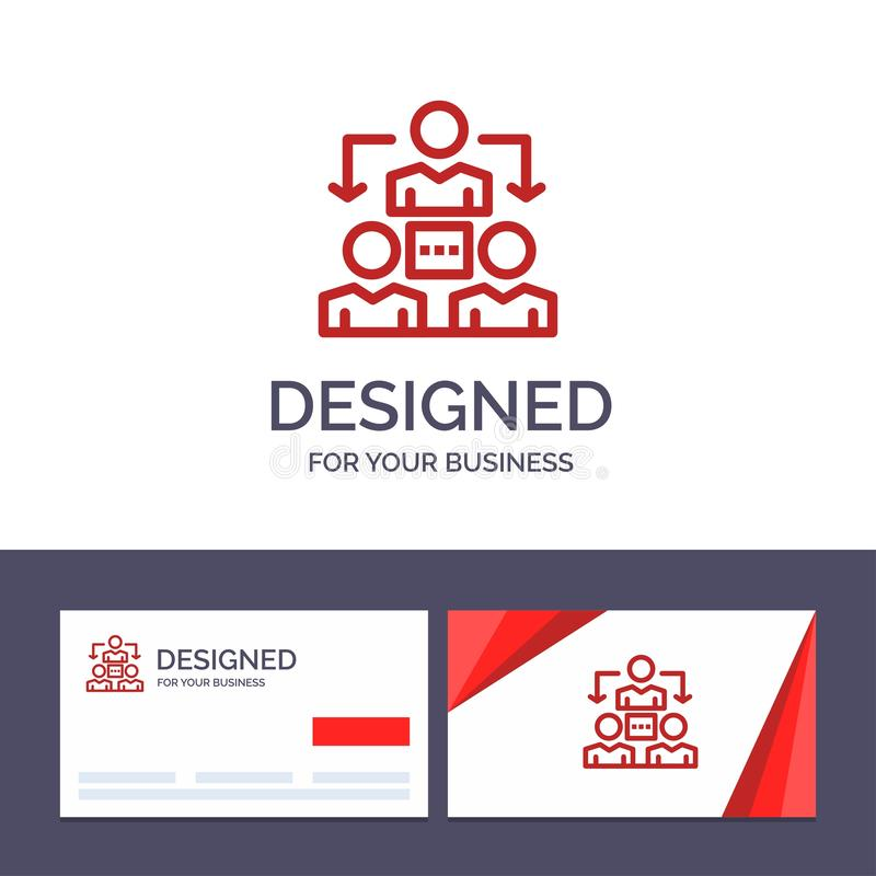 Kreatywnie wizytówki i logo szablonu związek, spotkanie, biuro, Komunikacyjna Wektorowa ilustracja royalty ilustracja