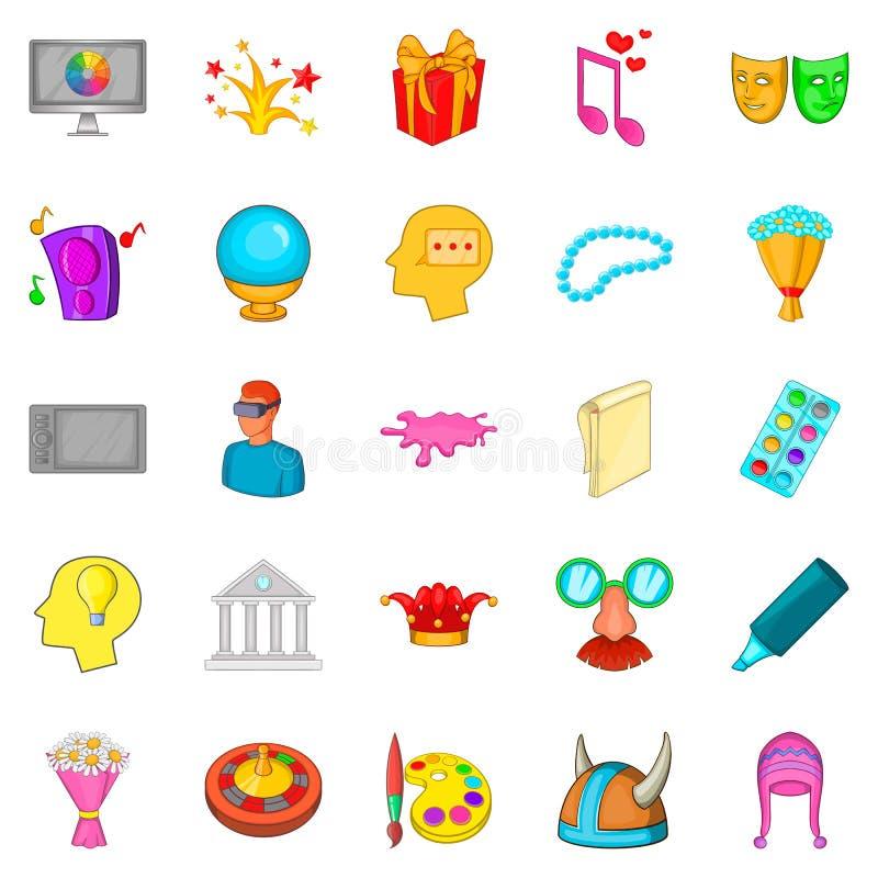 Kreatywnie zabaw ikony ustawiać, kreskówka styl ilustracji