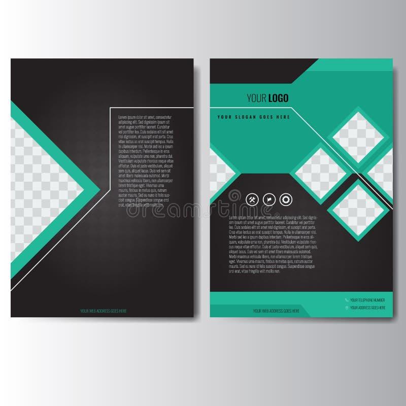 Kreatywnie zielony sprawozdanie roczne ulotki broszurki ulotki szablonu A4 rozmiar ilustracji