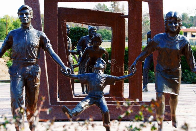 Krebs-Überlebend-Handschuh Bakersfield Kalifornien stockbilder