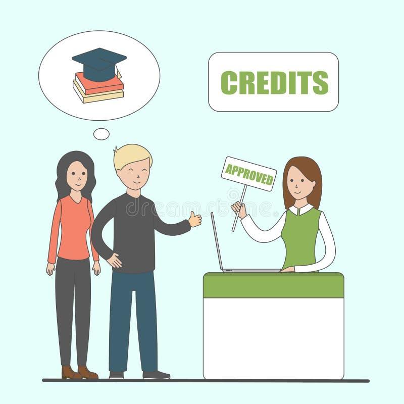 Kredit für Bildung lizenzfreie abbildung