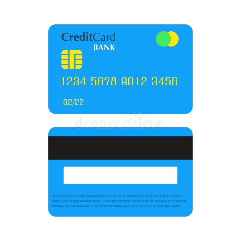 Kreditbankkartenzahlung Geschäftsdebetgeldvektorwährungs-Handelsikone Kaufbargelddesign mit Chip Plastik lokalisierte Flosse vektor abbildung