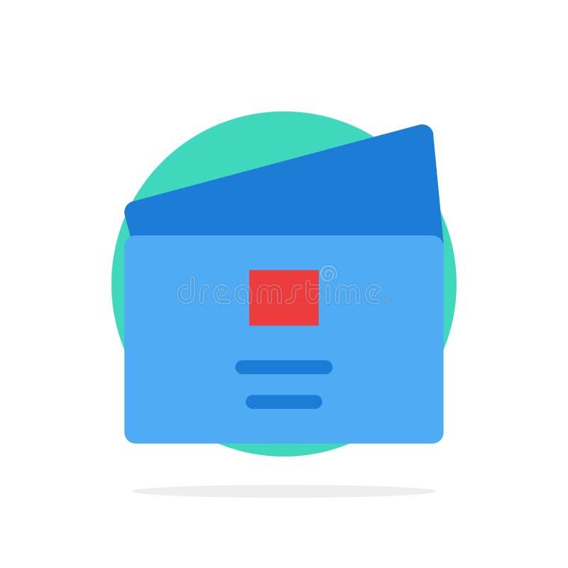 Kreditering debitering som är global, lön, symbol för färg för bakgrund för shoppingabstrakt begreppcirkel plan royaltyfri illustrationer