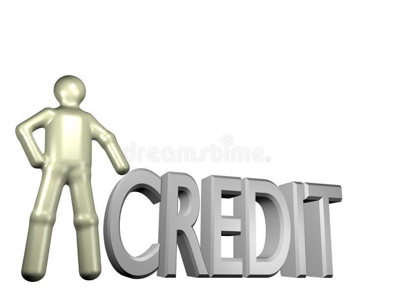 kreditering fick dig royaltyfri illustrationer