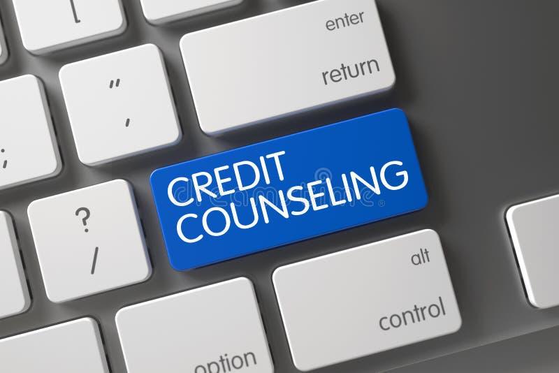 KrediteringsrådgivningCloseUp av tangentbordet royaltyfri bild