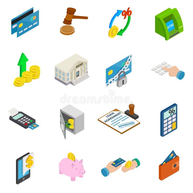 Krediteringssymbolsuppsättning vektor illustrationer