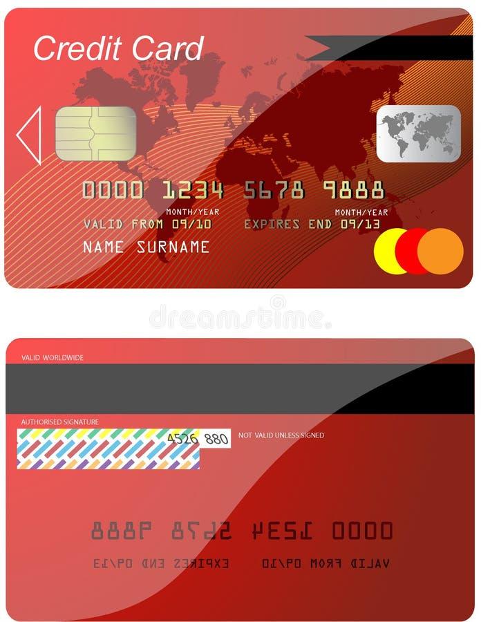 Kreditkarte vektor abbildung