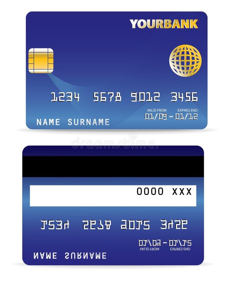 Kreditkarte auf Welle zeichnet zurück stock abbildung