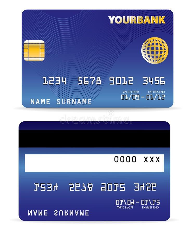 Kreditkarte auf Welle zeichnet zurück lizenzfreie abbildung