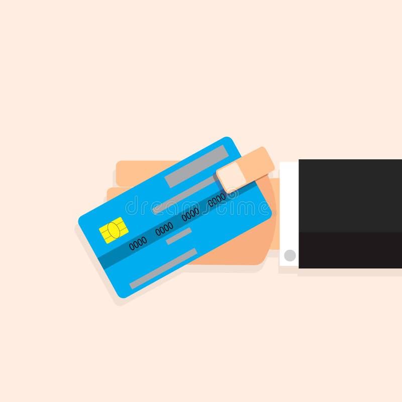 Kreditkarte in der Hand lizenzfreie abbildung