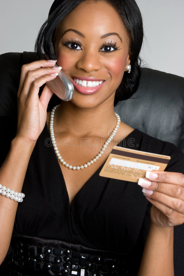 Kreditkarte-Geschäftsfrau lizenzfreies stockfoto
