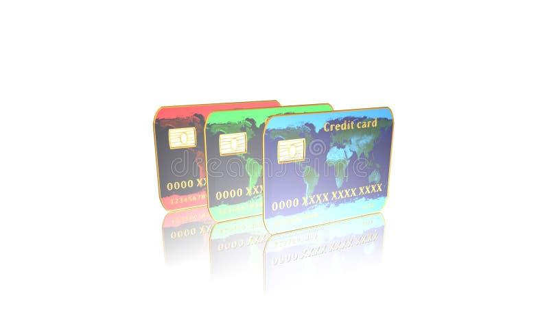 Kreditkarte, Illustration vektor abbildung
