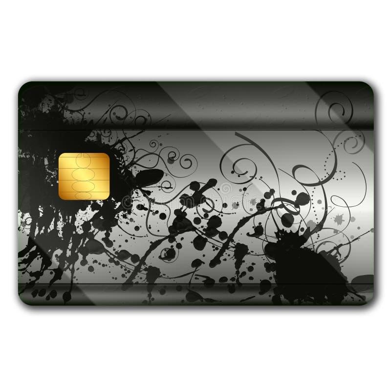 Kreditkarte mit bunten oranaments stock abbildung