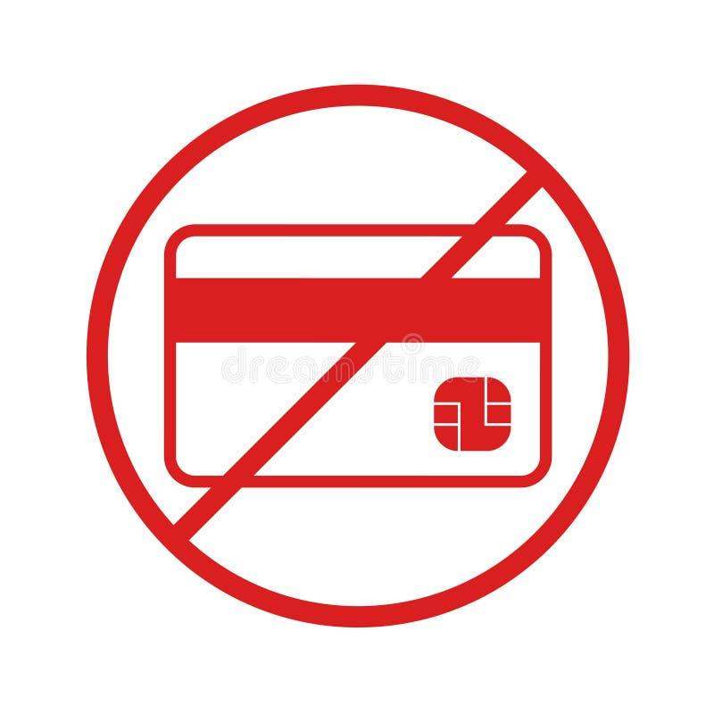 Kreditkarte nicht angenommen stock abbildung