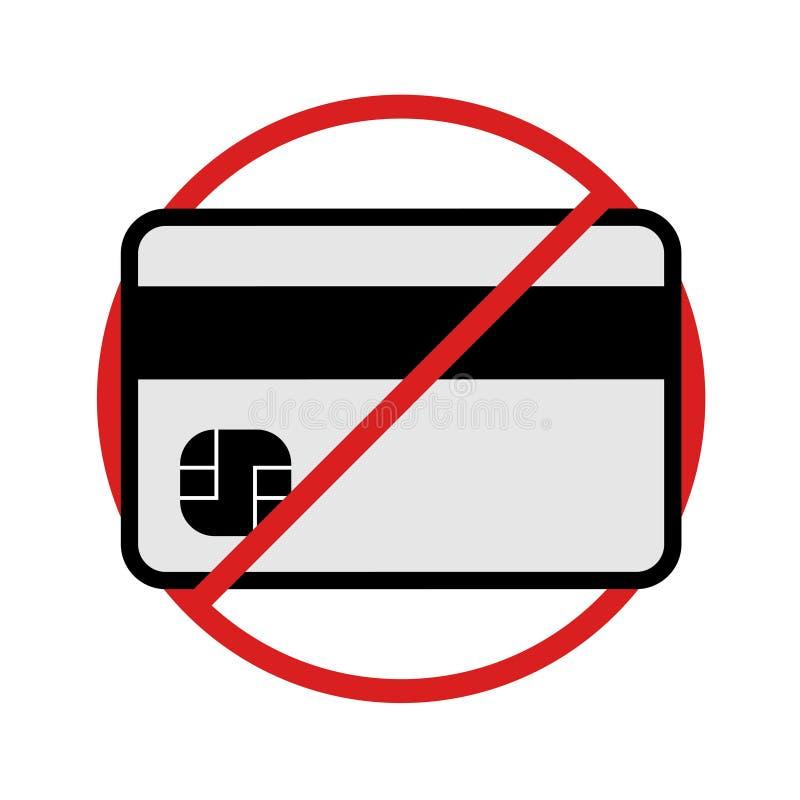 Kreditkarte nicht angenommen lizenzfreie abbildung