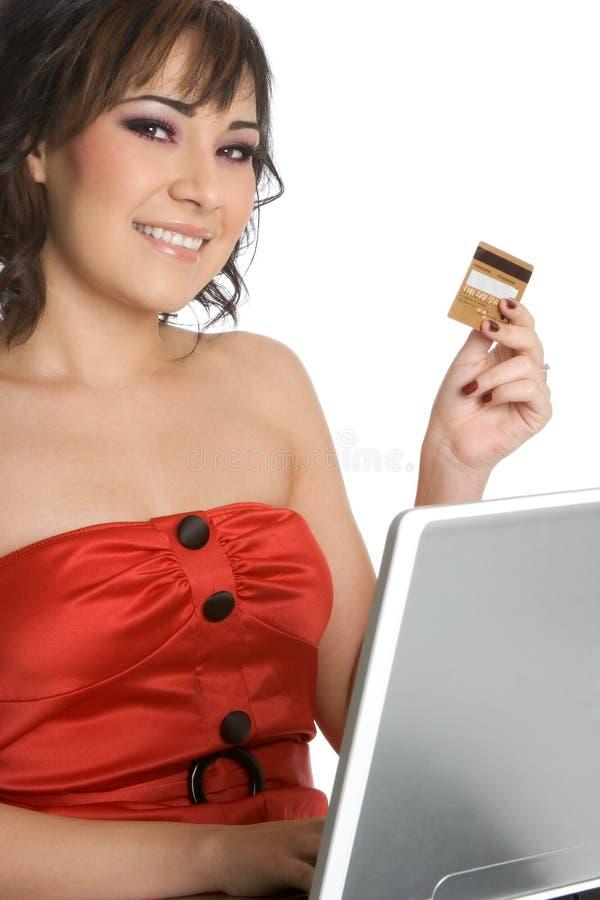 Kreditkarte-Person stockbild