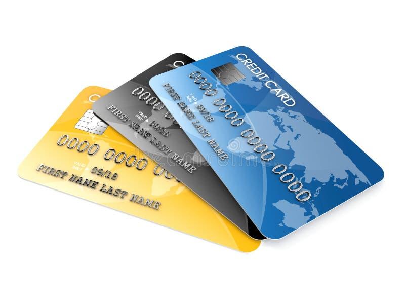 Kreditkarte s stock abbildung