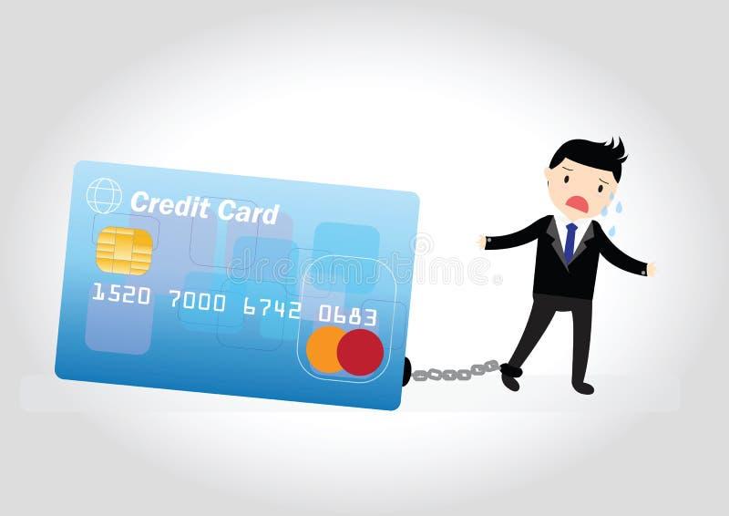 Kreditkarte-Schuld-Konzept lizenzfreie abbildung