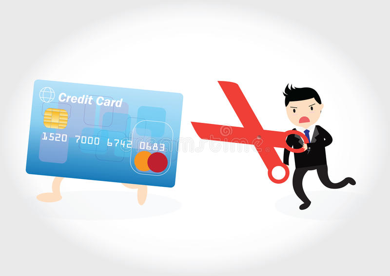 Kreditkarte-Schuld-Konzept vektor abbildung