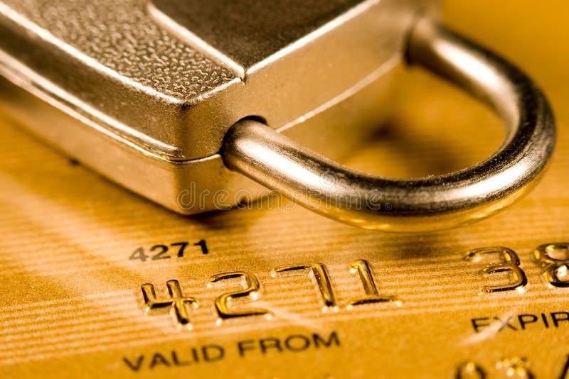 Kreditkarte-Sicherheit stockbilder