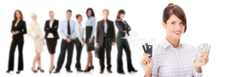 Kreditkarte und Bargeld stockbild