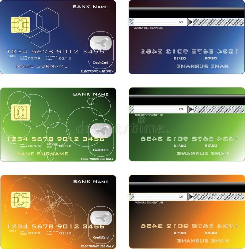 Kreditkarteauslegung lizenzfreie abbildung