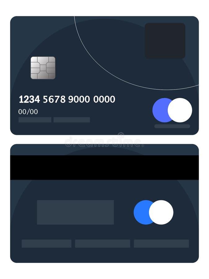 Kreditkarteausweisvektor Schlechter Kreditkarteausweis Flaches Entwurf Vektor-Illustrationskonzept der Netzfahne, des Netzes und  lizenzfreie abbildung