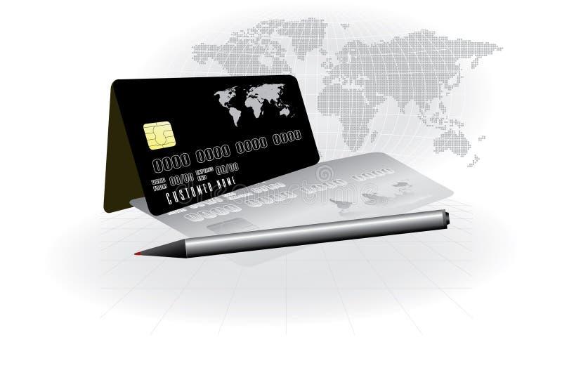Kreditkartebegriffsvektor vektor abbildung