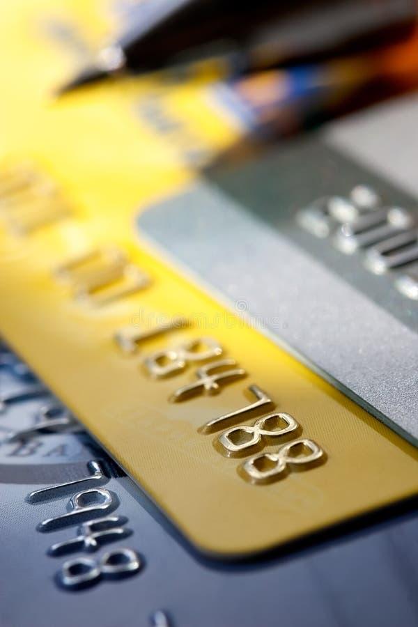 Kreditkartehintergrund stockfotografie