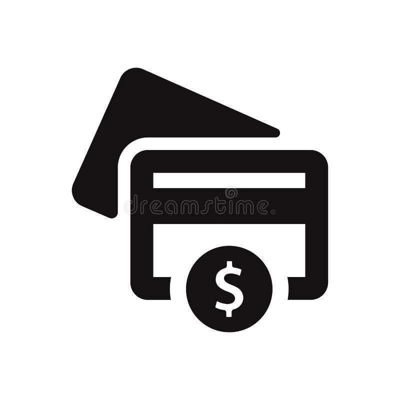 Kreditkarteikone mit Dollarzeichen-Vektorillustration vektor abbildung