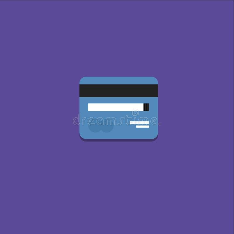 Kreditkarteikone Vektorillustration lizenzfreie stockfotos