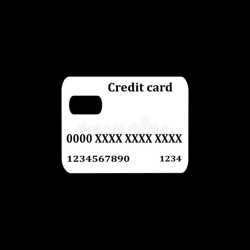 Kreditkarteikone, Zeichen, beste Illustration 3D lizenzfreie abbildung