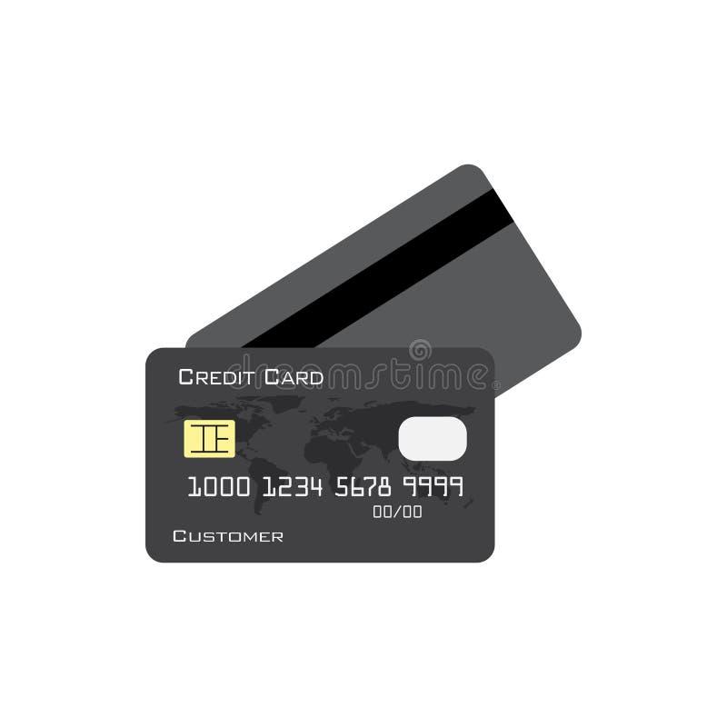 Kreditkarteikonengrafikdesign-Schablonenvektor stock abbildung