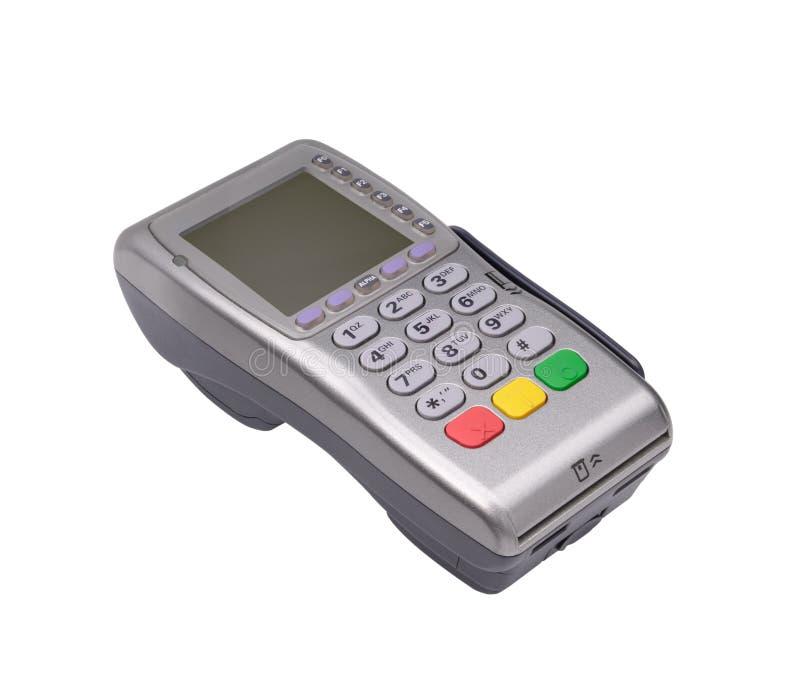 Kreditkartemaschine stockbild