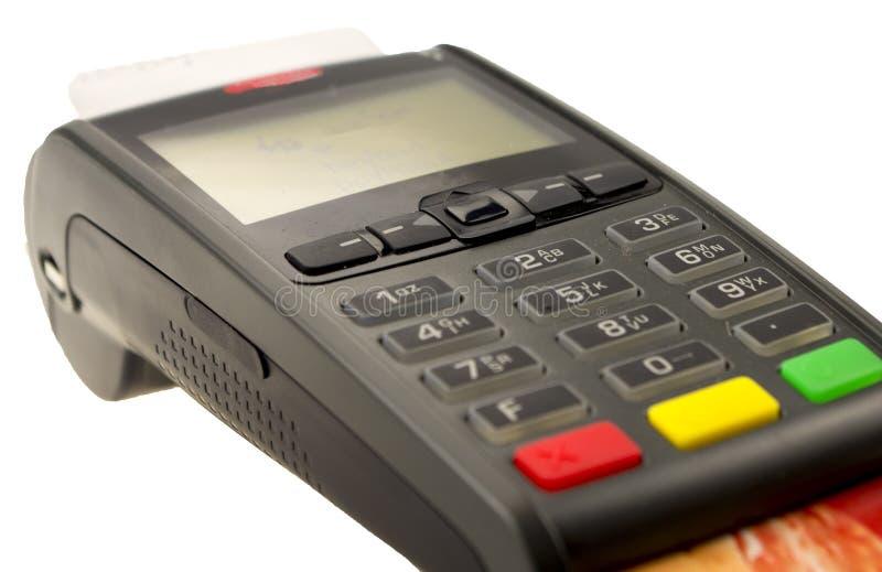Kreditkartemaschinenabschluß oben lizenzfreie stockfotos
