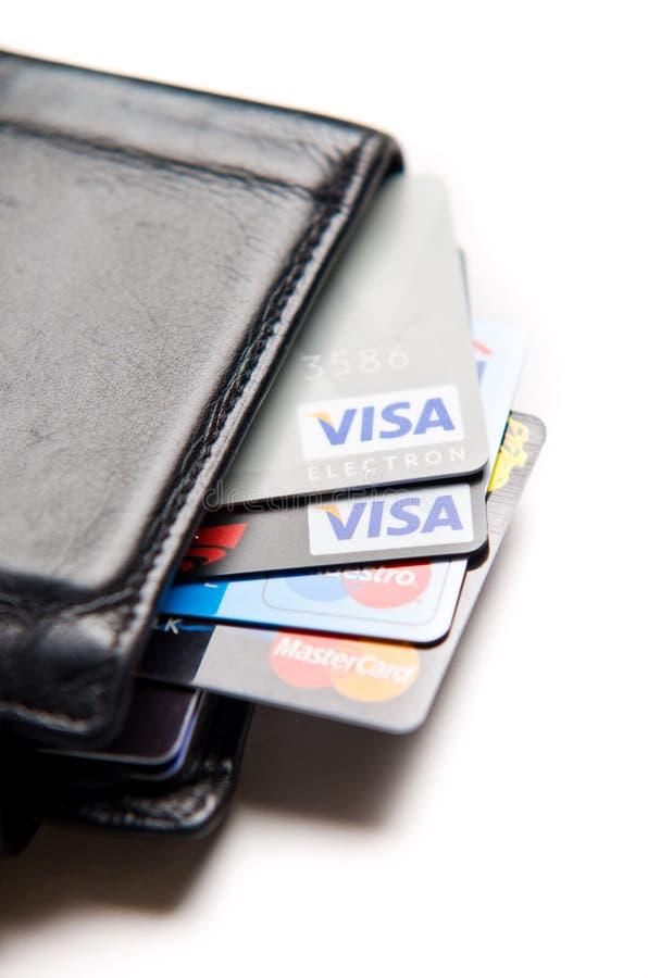 Kreditkarten auserlesen stockbilder