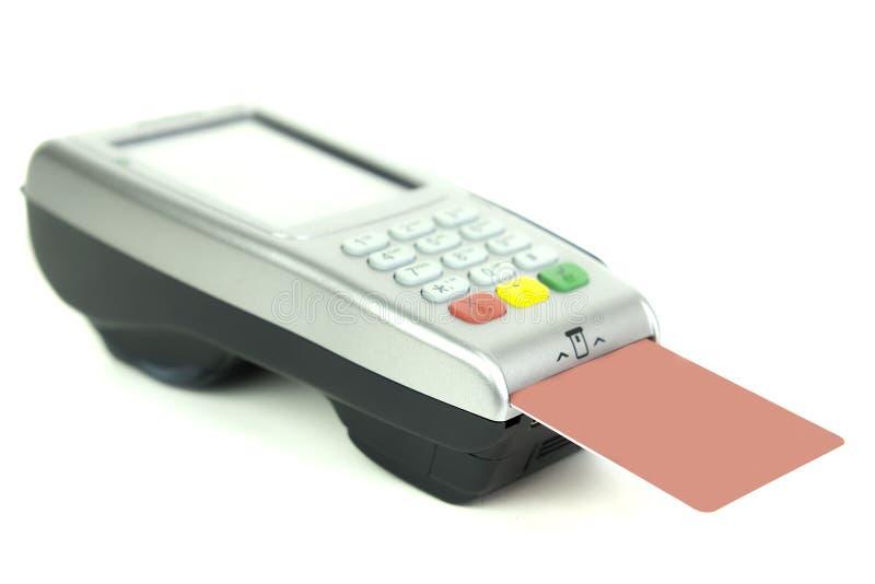 Kreditkartenleser lizenzfreies stockfoto