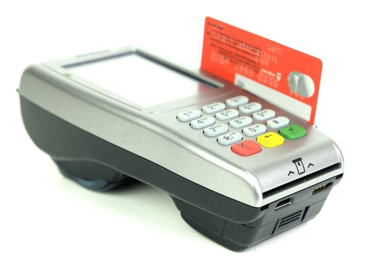 Kreditkartenleser lizenzfreie stockbilder
