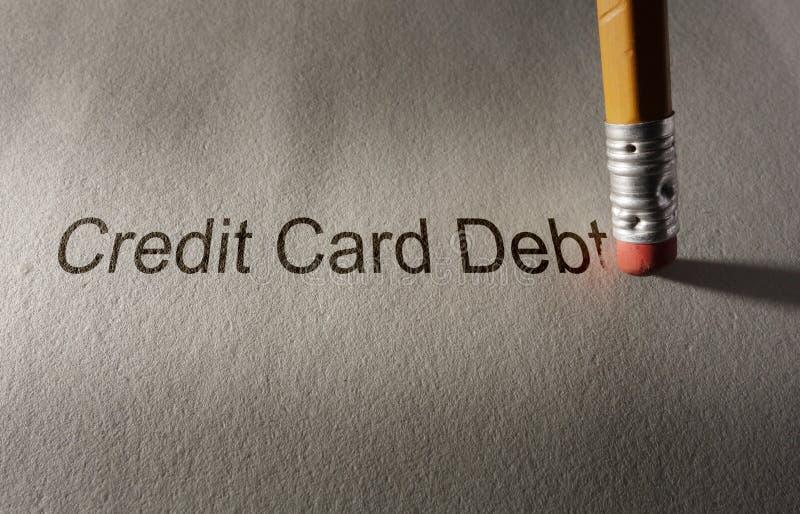 Kreditkarteschuldverlegenheit stockbild
