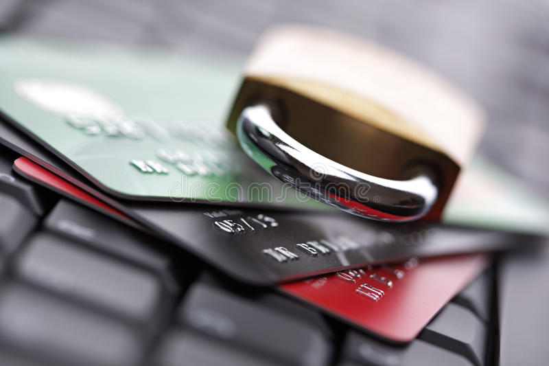 Kreditkartesicherheit stockfoto