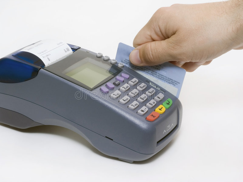 Kreditkarteterminal lizenzfreie stockfotos