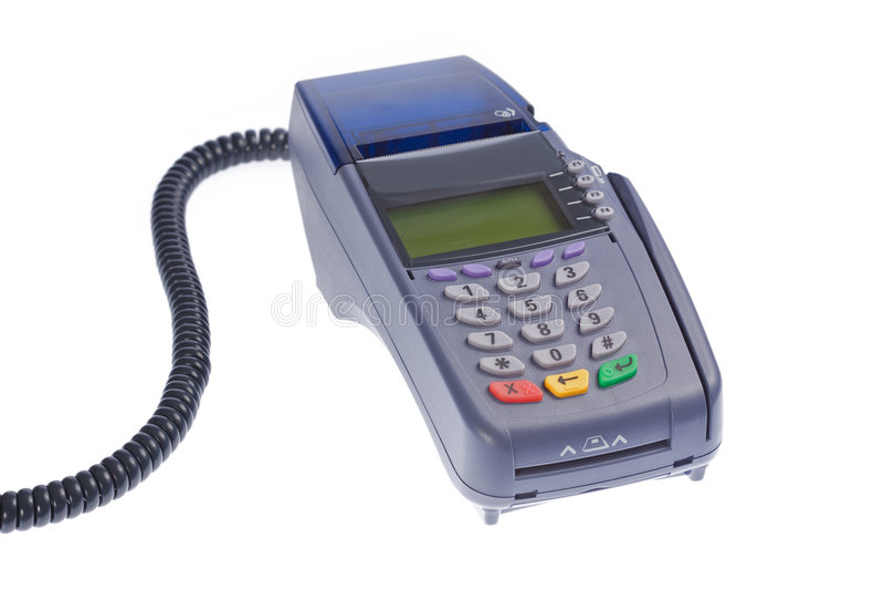 Kreditkarteterminal lizenzfreies stockbild