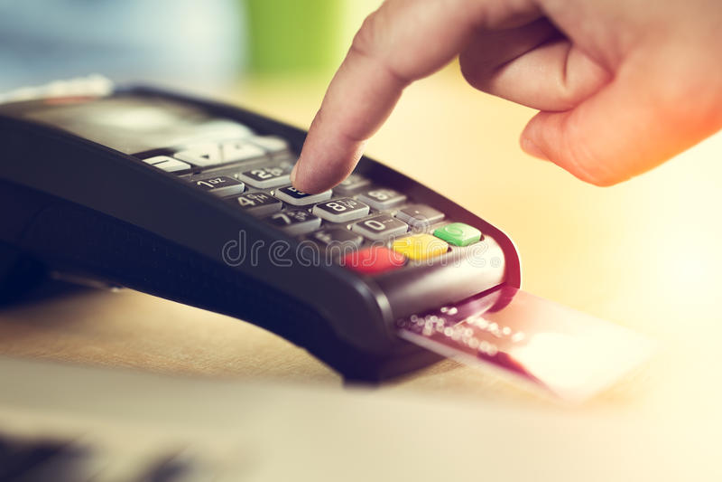 Kreditkartezahlung lizenzfreies stockbild