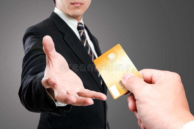 Kreditkort royaltyfria foton