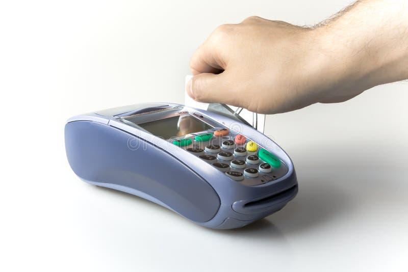 Kreditkortavläsare royaltyfri fotografi