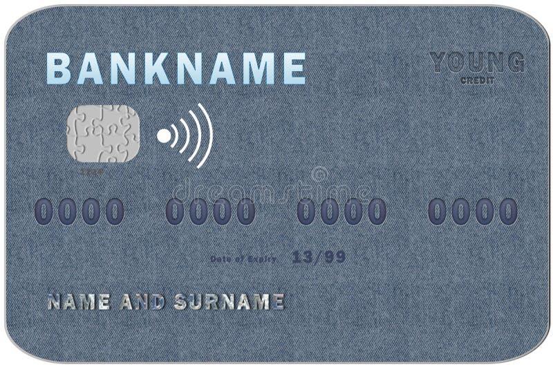 Kreditkortbarn stock illustrationer