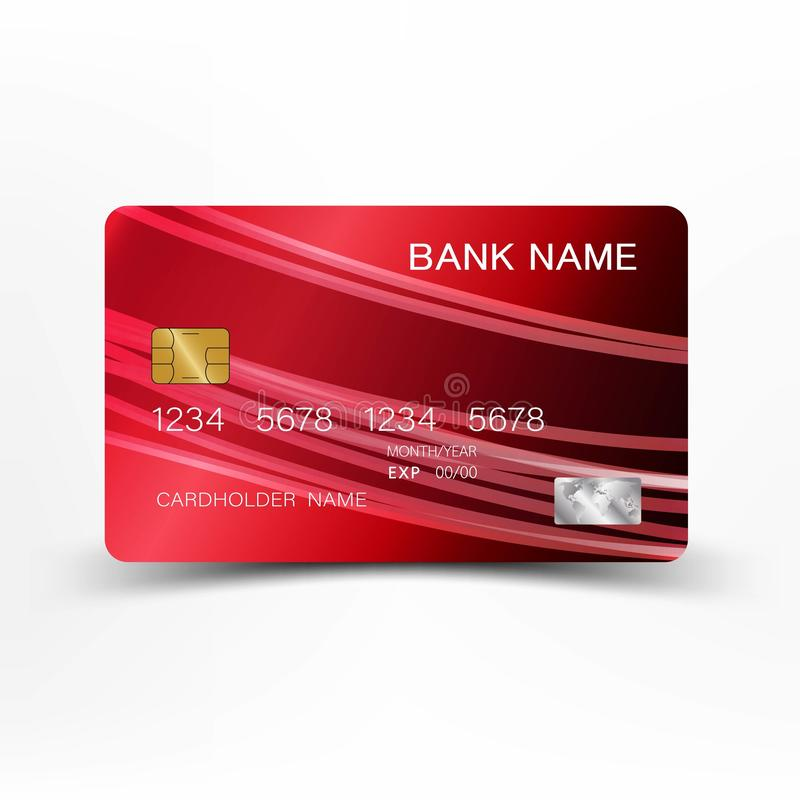 Kreditkortdesign stock illustrationer