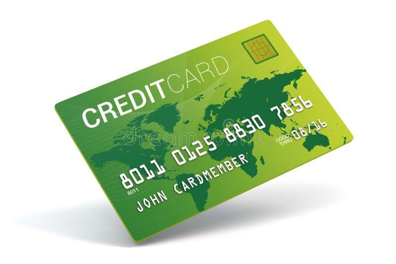 Kreditkortefterföljd stock illustrationer