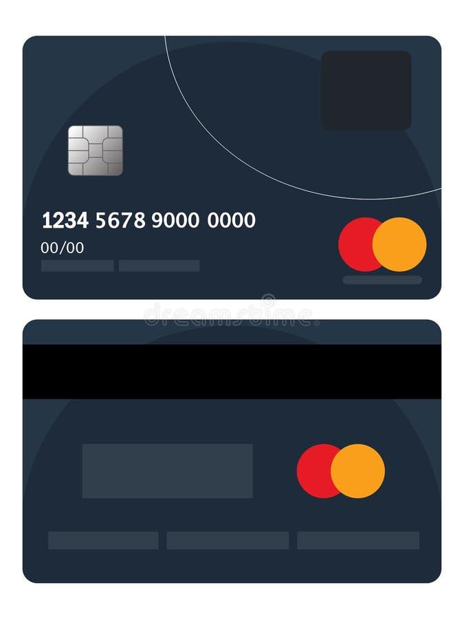 Kreditkortemblemvektor Dåligt kreditkortemblem Plant begrepp för designvektorillustration av rengöringsdukbanret, rengöringsduken stock illustrationer